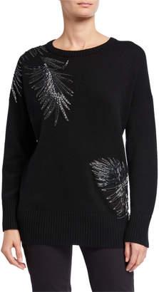Lafayette 148 New York Embellished Cashmere Pullover