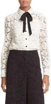 Kate Spade Women's Bow Tie Lace Shirt