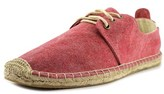 Soludos Solid Derby Lace Up Men Round Toe Canvas Red Espadrille.