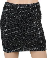 Leopard Knit Mini Skirt