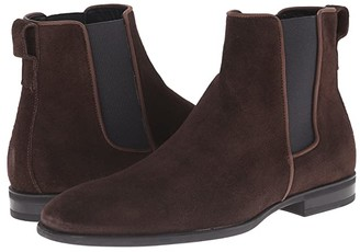 Aquatalia Adrian (Dark Brown Dress Suede) Men's Pull-on Boots