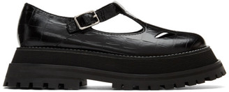 Burberry Black T-Bar Loafers