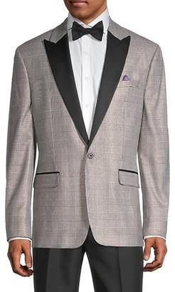 Tallia Plaid Tuxedo Jacket