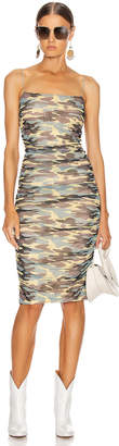 Sandy Liang Ditto Dress in Camo | FWRD