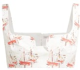 Emilia Wickstead Ania Sailboat-print Cropped Top - Womens - Pink Print