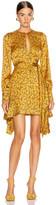 Jonathan Simkhai Hammered Keyhole Dress in Turmeric Print | FWRD