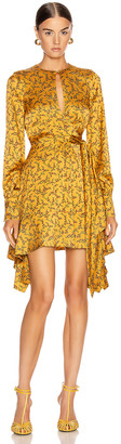 Jonathan Simkhai Hammered Keyhole Dress in Turmeric Print | FWRD