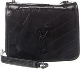 Saint Laurent Niki Crinkled Leather Shoulder Bag
