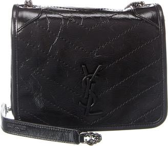 Saint Laurent Niki Crinkled Vintage Leather Shoulder Bag