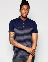 French Connection Bottom Stripe Polo Shirt