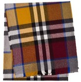 Burberry Red, Blue and Orange Exploded Check Scarf