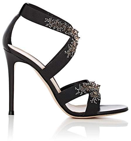 Gianvito Rossi Women's Leather & Elastic Crisscross-Strap Sandals