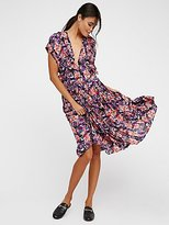 Free People Fitting In Floral Midi Dress