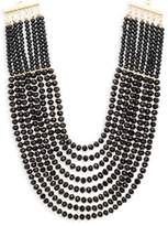 Saks Fifth Avenue Layered Faceted Bead Statement Necklace