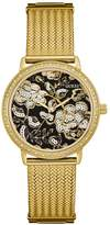 GUESS Gold-Tone Floral Mesh Watch