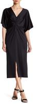 Kensie Dolman Sleeve Knotted Dress