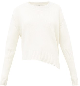 Bottega Veneta Oversized Cut-out Rib-knitted Sweater - Womens - Ivory