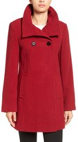 Larry Levine Women's Double Breasted Coat