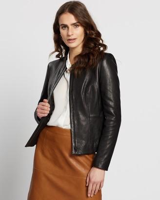 SABA Lilia Leather Cropped Jacket