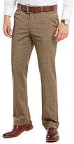 Murano Zac Modern Classic Fit Flat-Front Plaid Pants