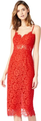 Amazon Brand - TRUTH & FABLE Women's Midi Lace Dress