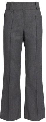 Fendi Light Flannel WoolCropped Pants