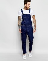 Asos Denim Overalls In Bow Leg Style