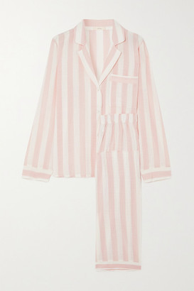 Eberjey Umbrella Stripes Cotton-blend Voile Pajama Set - Blush