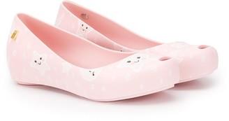 Mini Melissa Star-Print Ballerina Flats