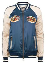 Pam & Gela Embroidered Tiger Bomber Jacket