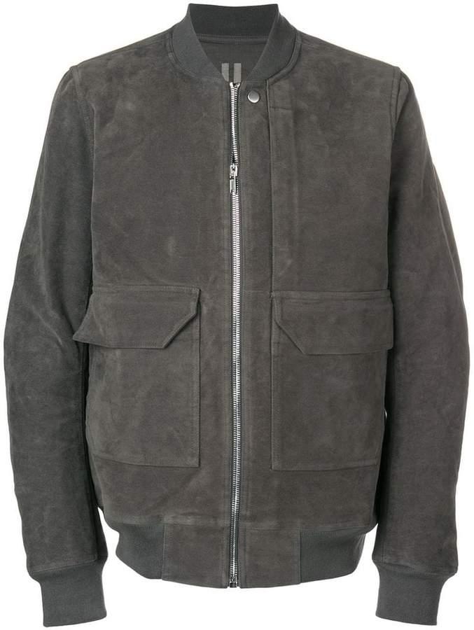Rick Owens front zip bomber jacket