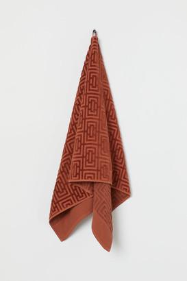 H&M Jacquard-patterned Bath Towel - Orange