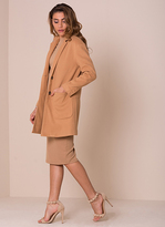 Missy Empire Jessika Camel Wool Boyfriend Coat