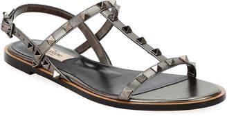 Valentino Garavani Rockstud T-Strap Sandals