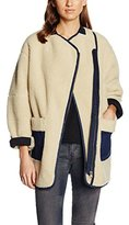 Maison Scotch Women's Teddy Cocoon Shaped Denim Detailing Jacket,42 (Herstellergröße: 4)
