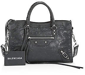 Balenciaga Women's Small Classic City Leather Satchel