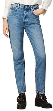 Sandro Jen High-Rise Jeans in Blue Vintage