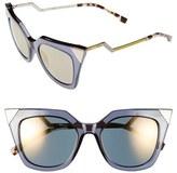 Fendi Women's 52Mm Cat Eye Sunglasses - Blue/ Grey