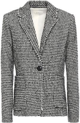 Masscob Frayed Houndstooth Wool-blend Boucle-tweed Blazer