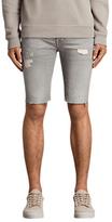 AllSaints Gilroy Switch Denim Shorts, Grey