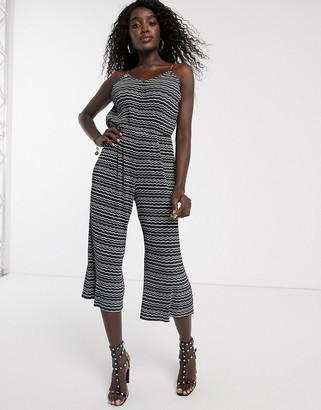 Glamorous plisse culotte jumpsuit