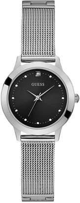GUESS Women Diamond-Accent Stainless Steel Mesh Bracelet Watch 30mm