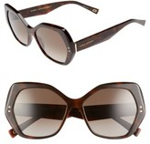 Marc Jacobs Women's 56Mm Polarized Sunglasses - Medium Havana/ Polar