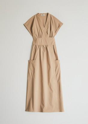 NEED Women's Garcia Wrap Dress in Tan, Size Small | Spandex