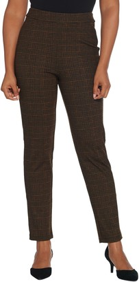 Joan Rivers Regular Length Houndstooth Pull-On Ankle Pants