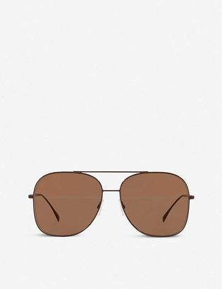 Fendi FF0378 metal pilot-frame sunglasses