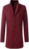 Benibos Men's Wool Slim Fit Long Jacket Business Coat(M, )
