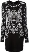 Givenchy Tattoo Print Long Sleeve Dress