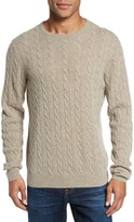 Nordstrom Men's Big & Tall Cashmere Cable Knit Sweater