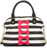 Betsey Johnson Chic Bows Dome Satchel Bag, Fuchsia
